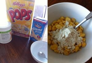 run262 corn pop cereal herbalife protein powder